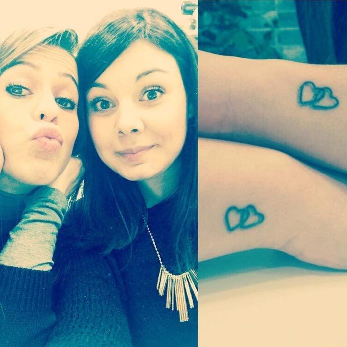 Tatuajes de corazon de hermanas+-