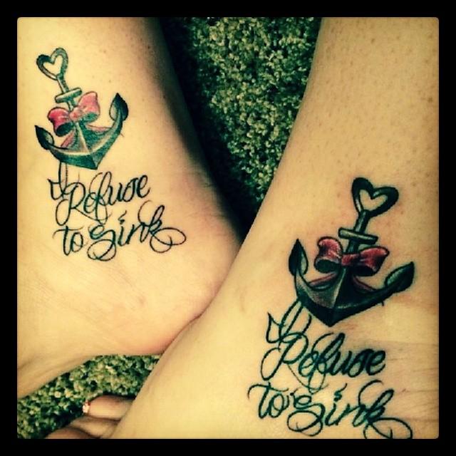 Tatuajes de anclas verdes