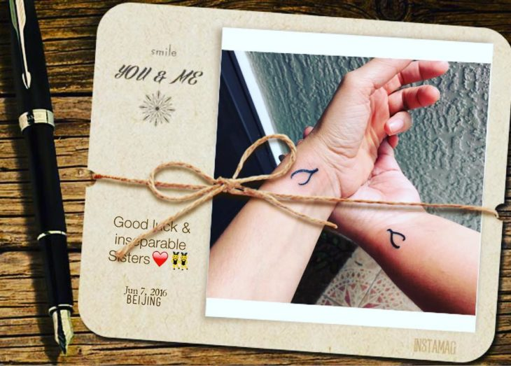 Hermanas inseparables con tatuajes iguales