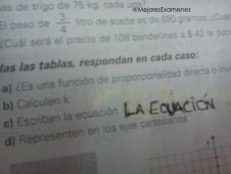 Literal La ecuación