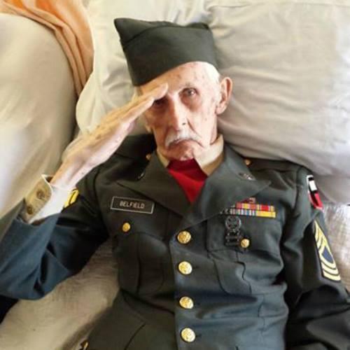 Hombre veterano de guerra