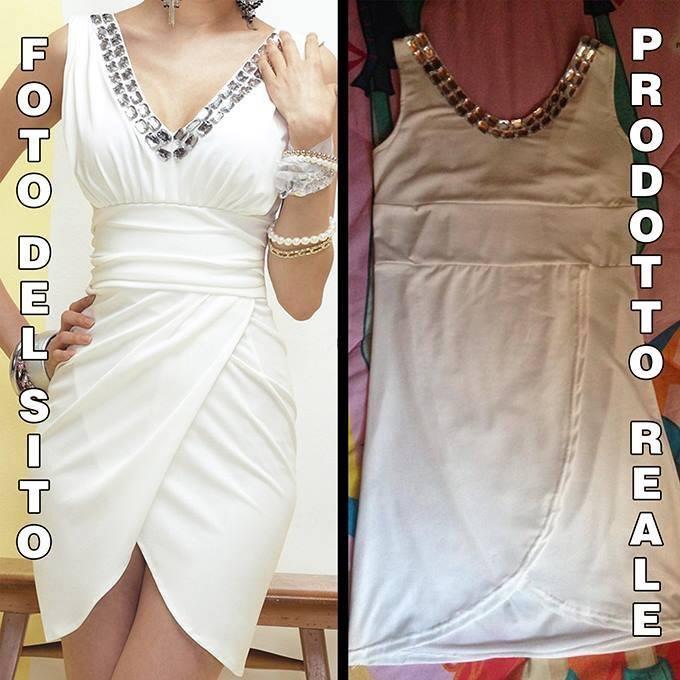 vestido y producto real