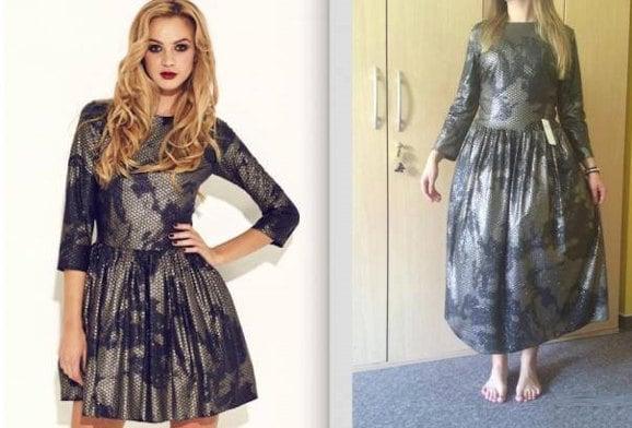 vestido mal hecho o mal comprado