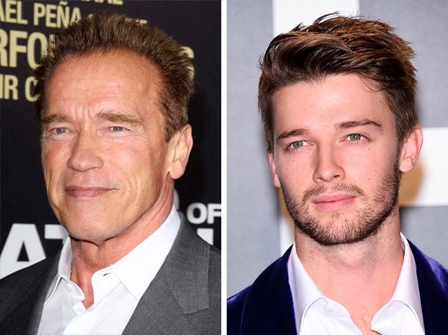 Arnold y su hijo Patrick Schwarzenegger