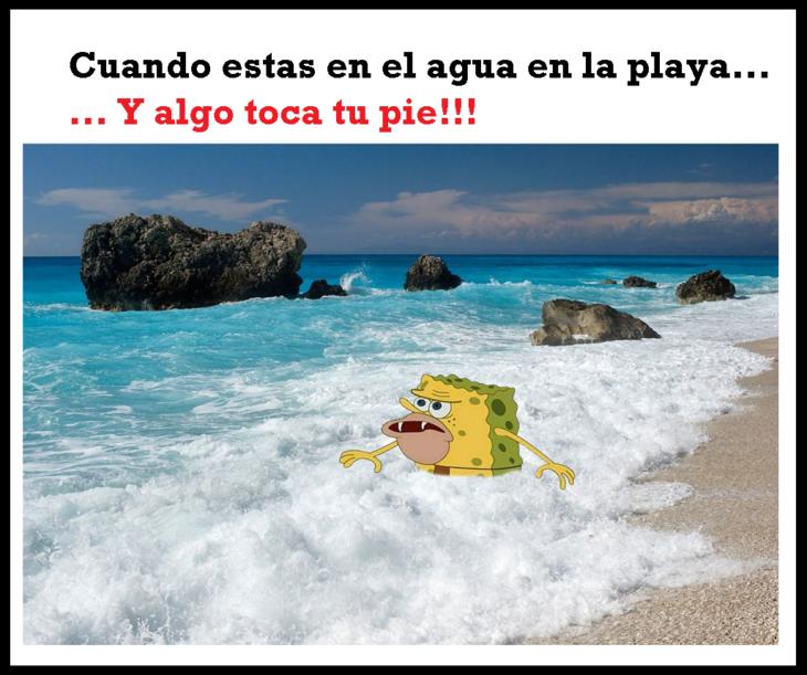Meme de bob esponja cavernícola 5