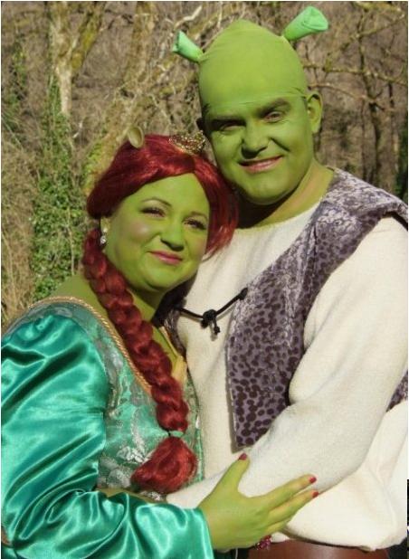 Pareja de Shrek y Fiona