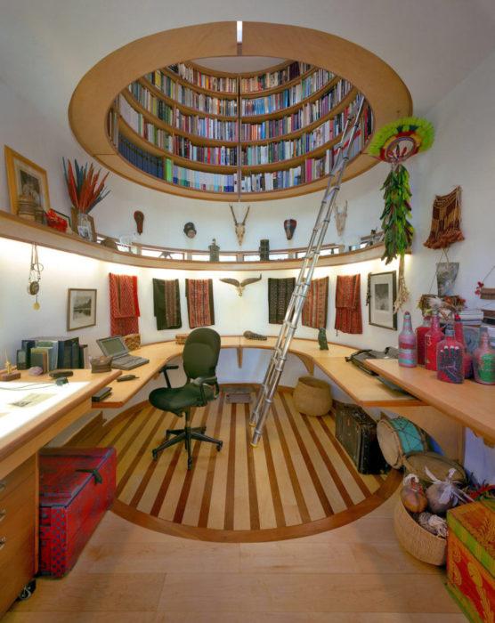 librero en el techo