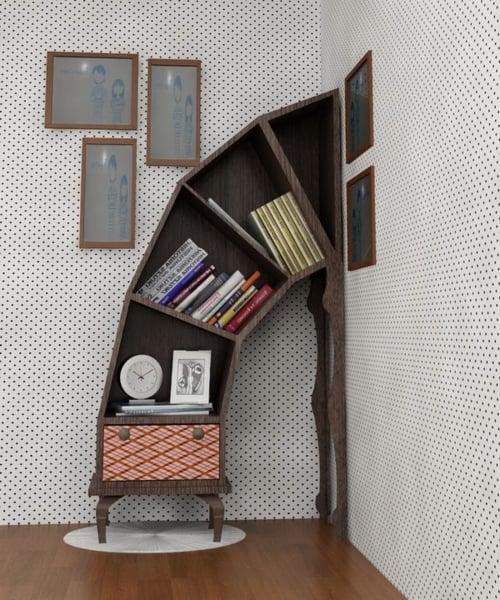 librero que sale de la pared