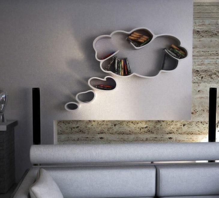 librero en forma de nube