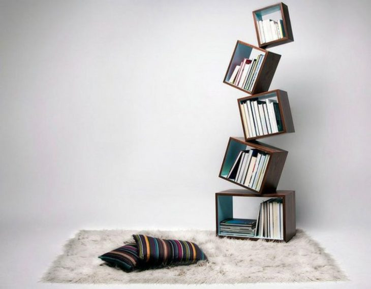 librero de cubos minimalista