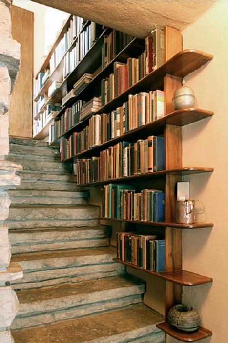 Librero en la pared