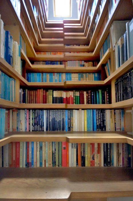 Librero escalera