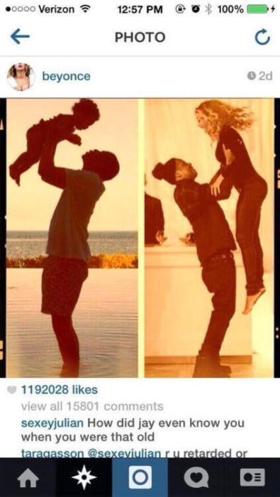 Comentario a Beyonce en Instagram