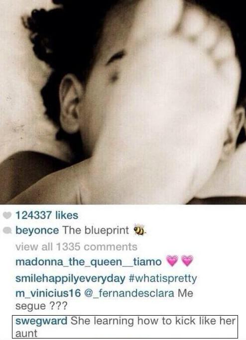 Comentario a Beyonce en instagram 2