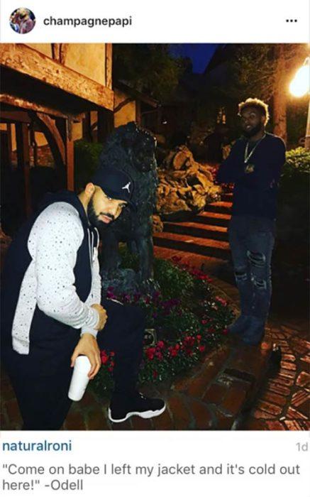 Comentario a Drake en instagram