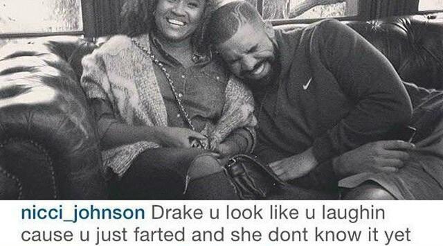 Comentario a una foto de Drake en instagrm