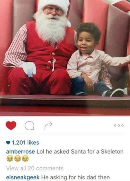 Comentario en foto de instagram de Amber Rose