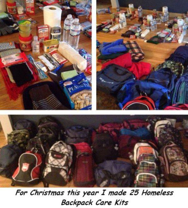 mochilas para indigentes