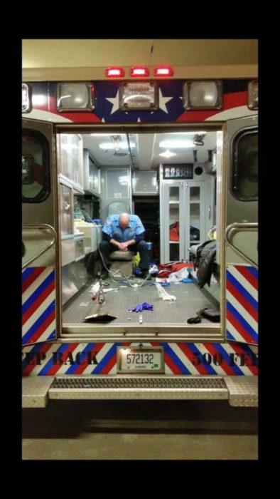 paramedico en ambulancia
