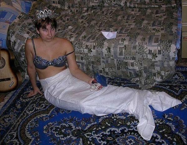 Chica vestida de sirena