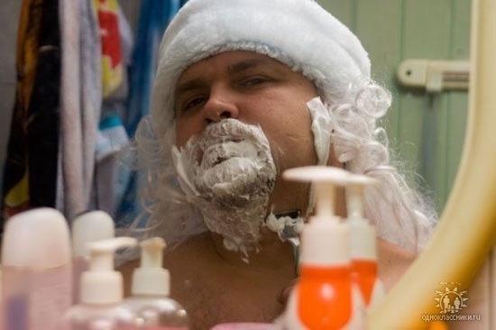 Hombre rasurandose la barba