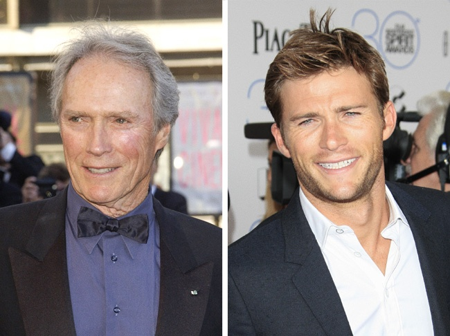 Comparación de Clint Eastwood y su hijo Scott
