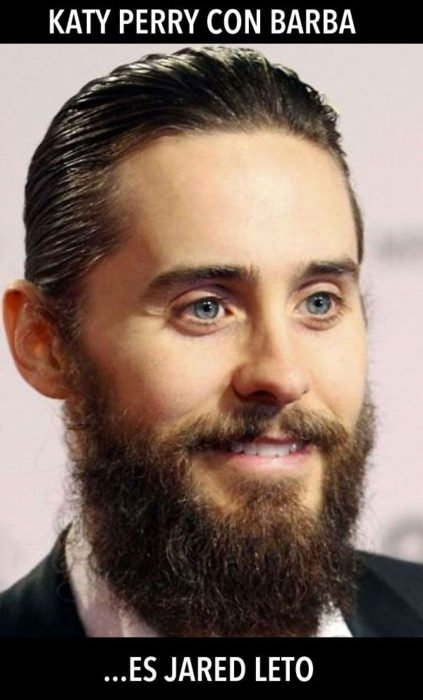 Katy Perry con barba es Jared Leto