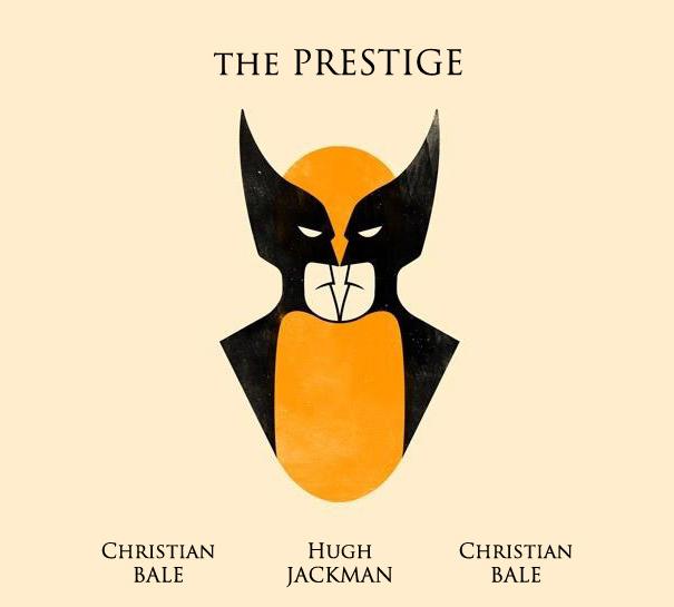 Póster de Wolverine y dos Batman