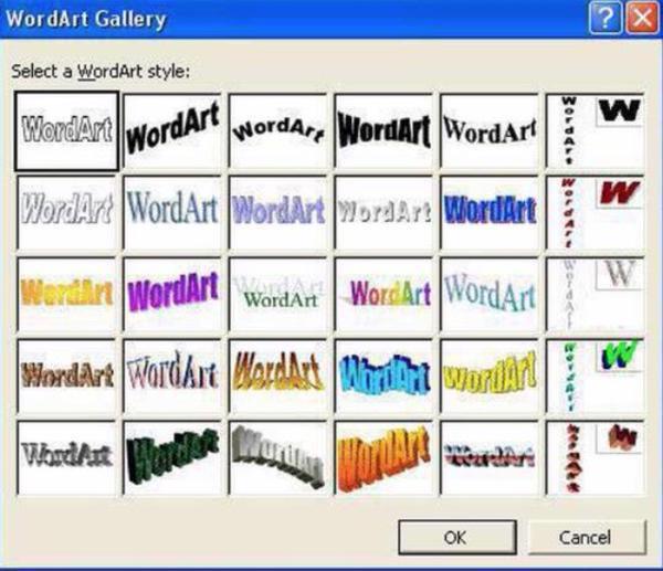 Cosas que antes hacías. WordArt Gallery