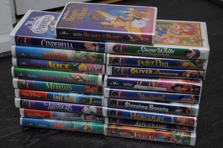 Cosas que antes hacías. 19 películas de Disney en VHS