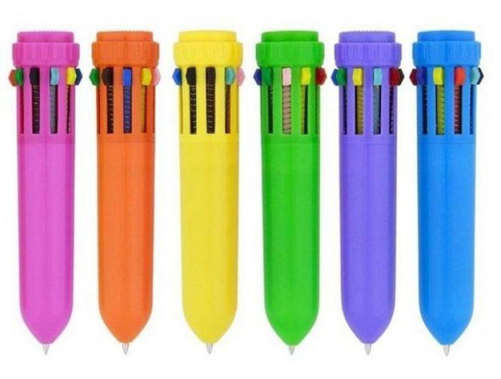 Cosas que antes hacías. Plumas que tenían muchos colores para escribir