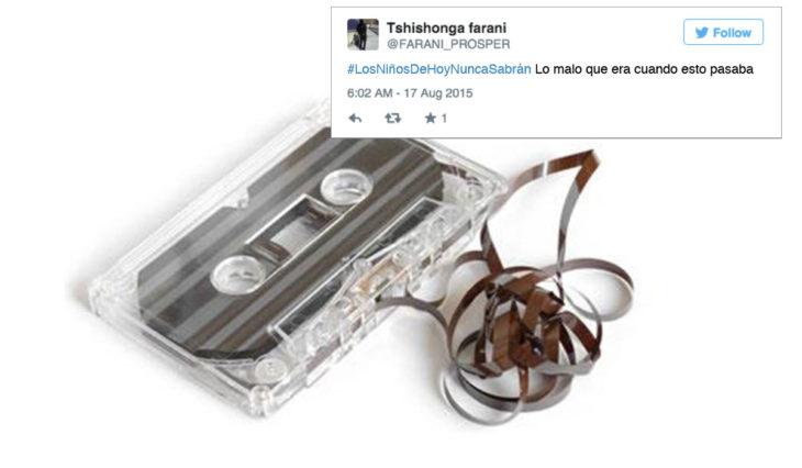 Cosas que antes hacías. Cassette desenredado