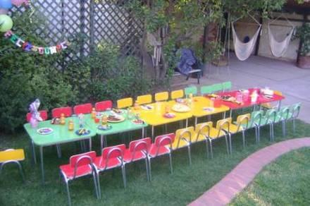 Mesitas de colores para niños