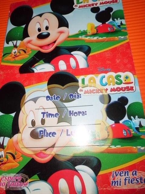 Invitación de fiestas para Mickey Mouse
