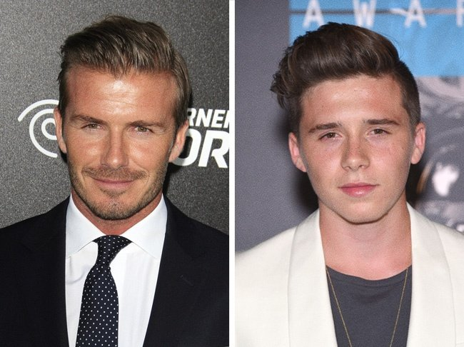 Comparación de David Beckham y su hijo Brooklyn