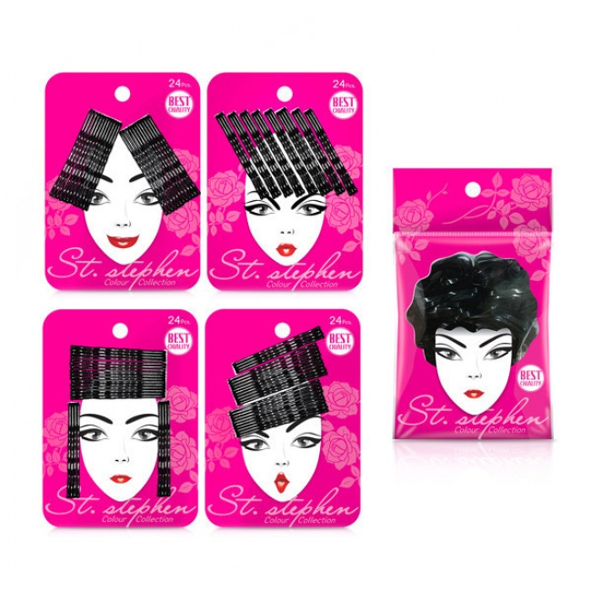 empaque de broches que simulan cabello con los broches