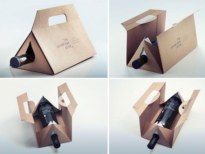 empaque para transportar botella de vino