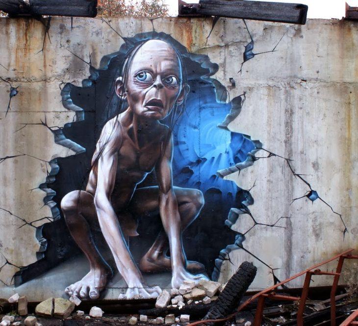 Graffitti de Golum