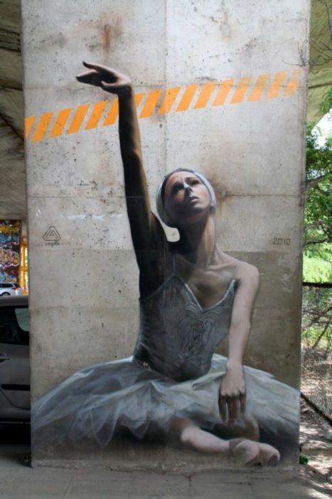 Graffitti de una bailarina