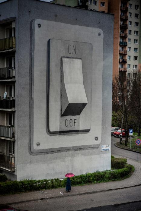 Graffitti de un interruptor de luz