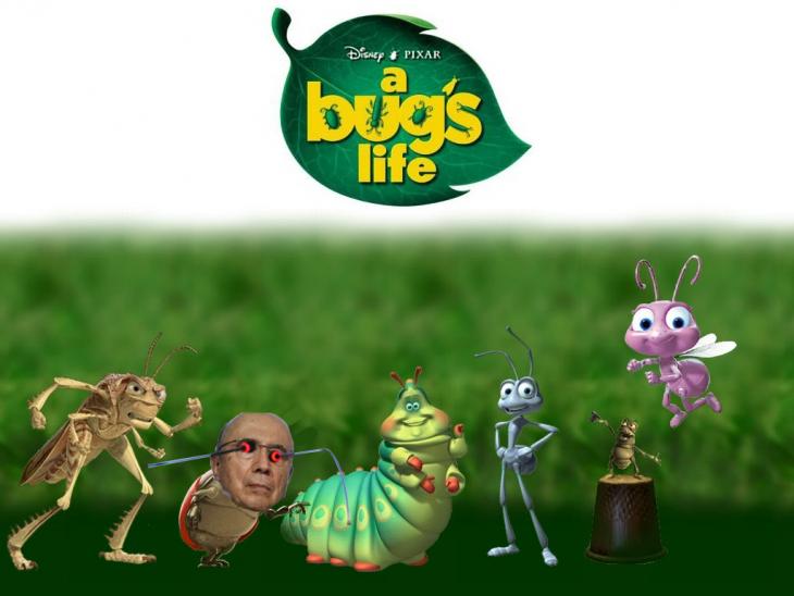 Henrique Mirelles como un personaje de Bugs