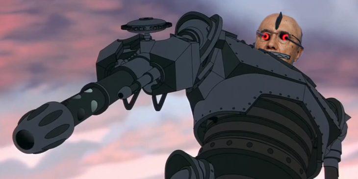 Henrique Mirelles como el Gigante de Hierro