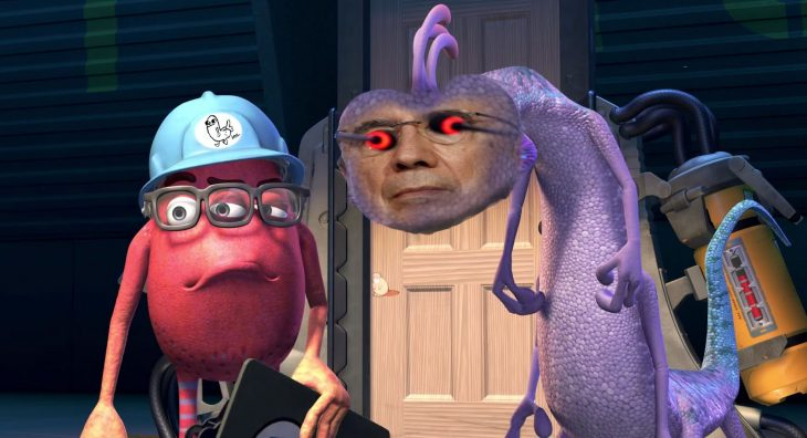 Henrique Mirelles como el malo de Monsters Inc