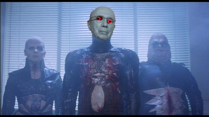Henrique Mirelles como los Cenobites de Hellraiser