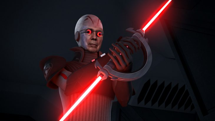 Henrique Mirelles como el grand inquisitor de star wars rebels