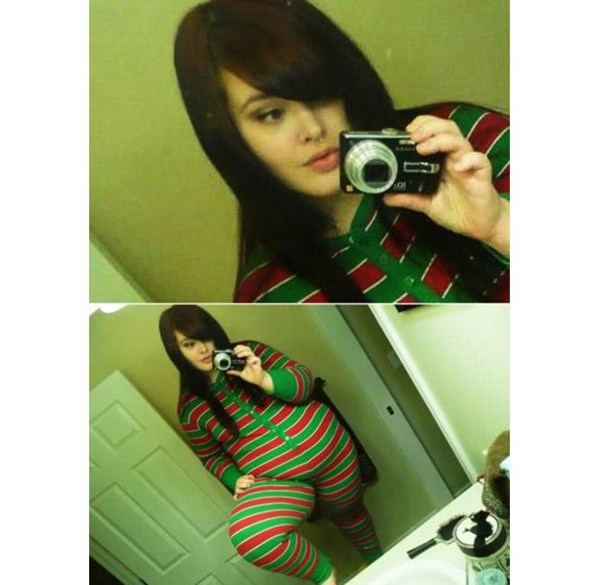 Fotos recortadas: Foto de una mujer muy guapa, en la imagen completa se ve que está un poco subida de peso