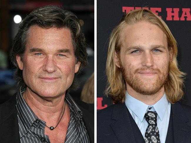 Comparación entre Kurt Russell y Wyatt su hijo