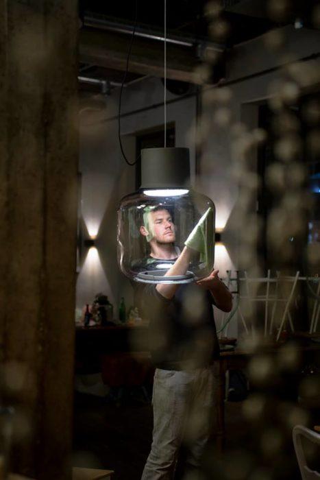 instalación de una lampara