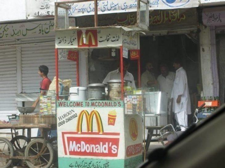 McDonalds en puesto ambulante