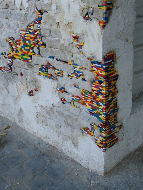 Pared con legos